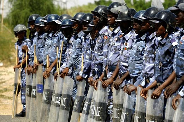 Déploiement de la police anti-émeute soudanaise