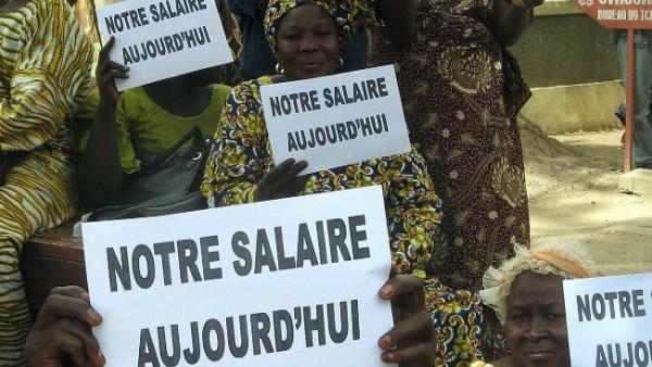 Grévistes de la fonction publique au Tchad (archive)