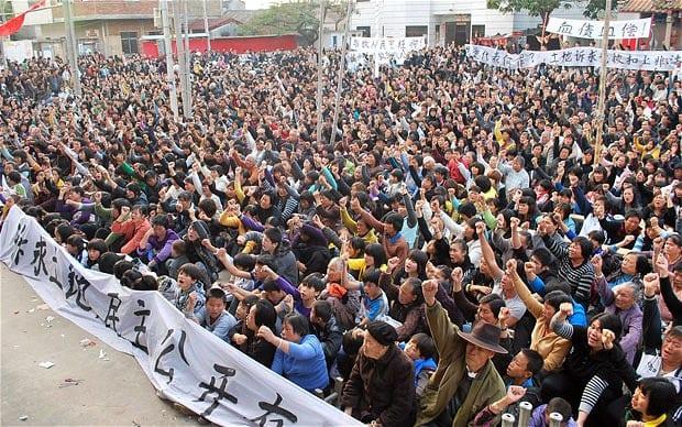 Mobilisation des habitants de Wukan (archive)