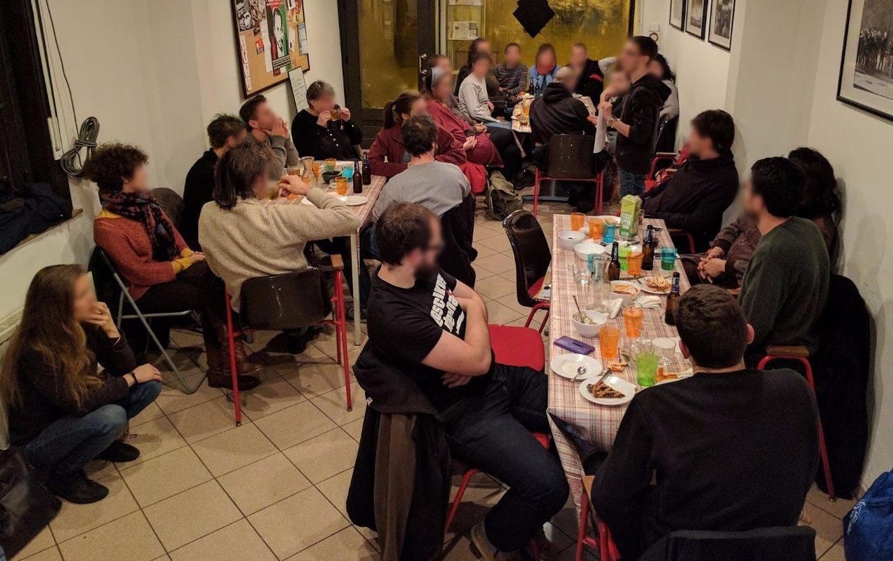 Premier repas du Sacco-Vanzetti