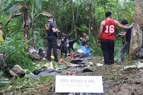 Le lieu de la fusillade à Barangay Biangan, North Cotabato