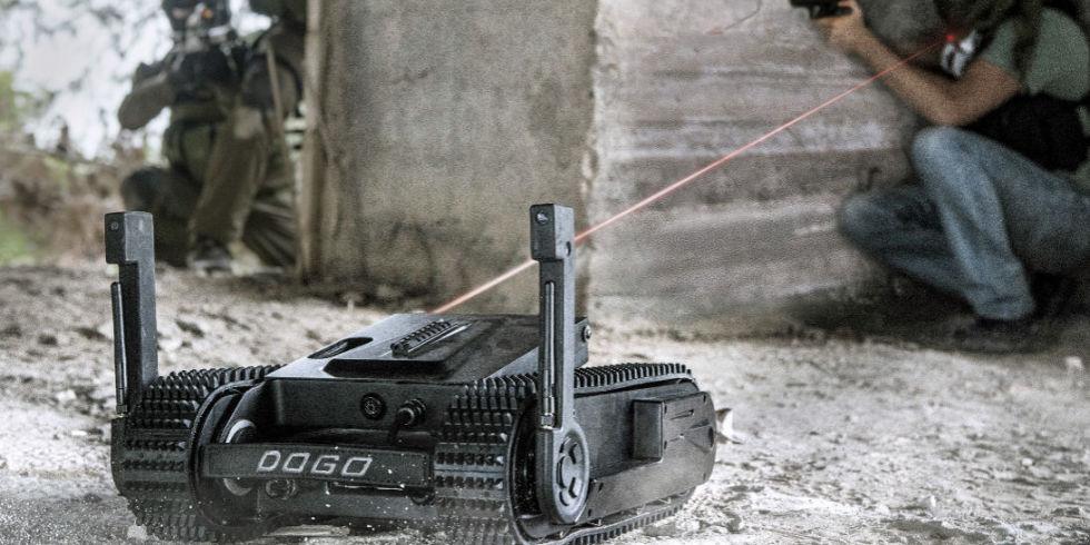 Le Dogo dispose d'un système de visée par pointeur laser
