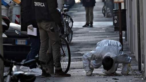 Le lieu de l'explosion à Florence