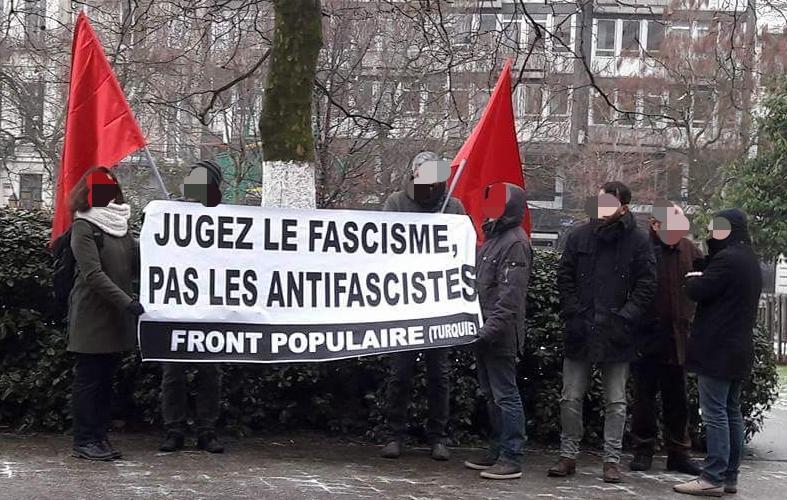 Délégation du Front Populaire hier, devant le Ministère de la Justice