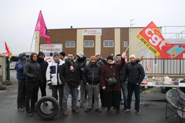 Piquet de grève à N4 Mobilités