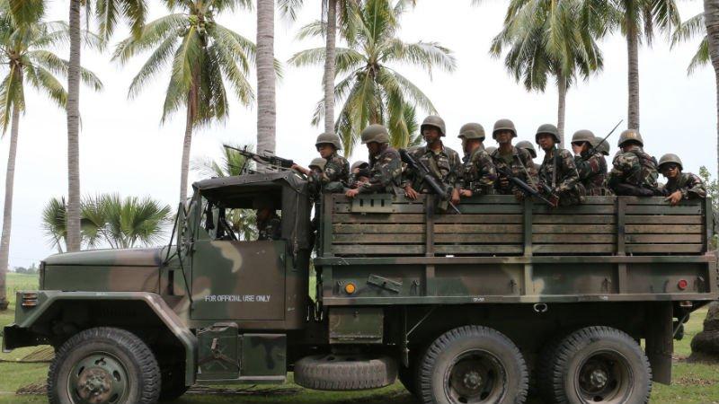 Déploiement de l'armée hier dans le North Cotabato (Mindanao)