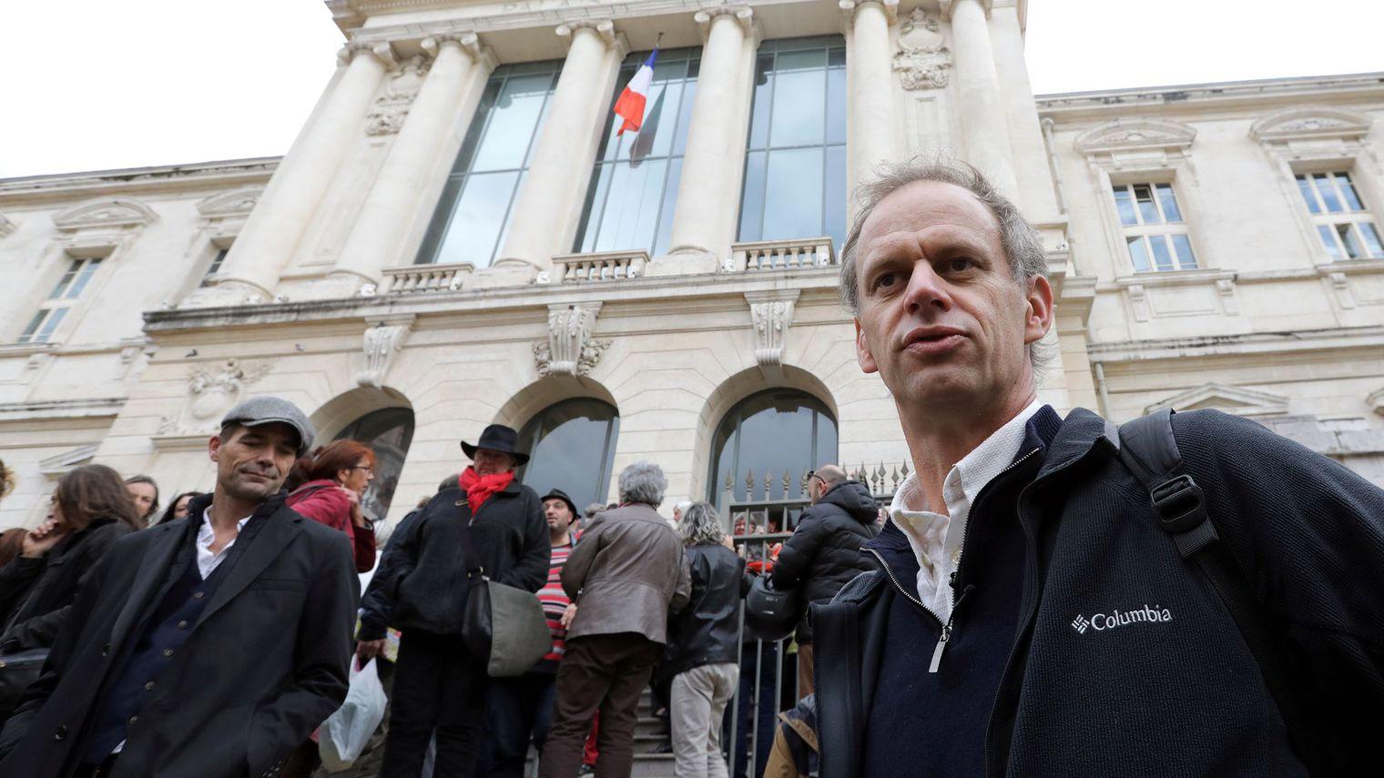 Pierre-Alain Mannoni au palais de justice