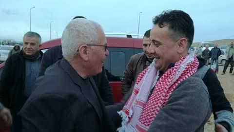 Wissam Mletat à droite le jour de sa libération.