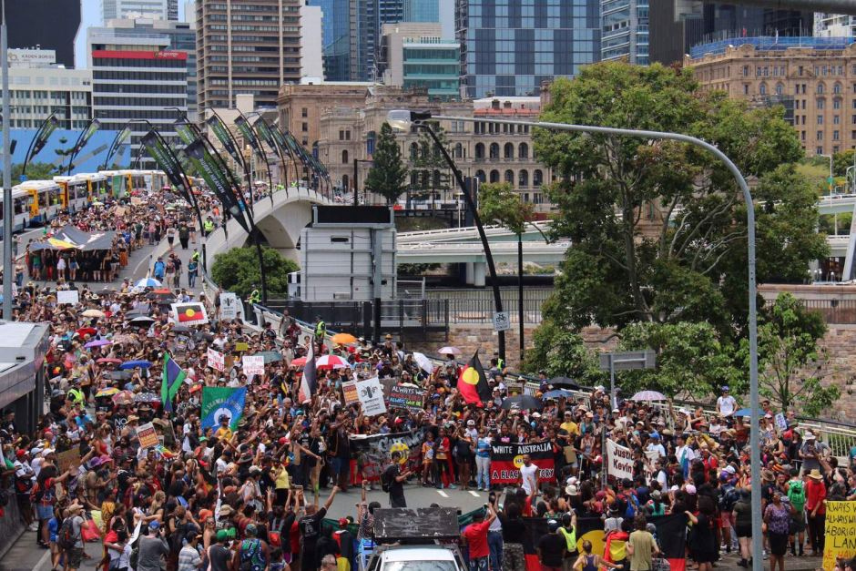 La manifestation d'hier, à Sidney