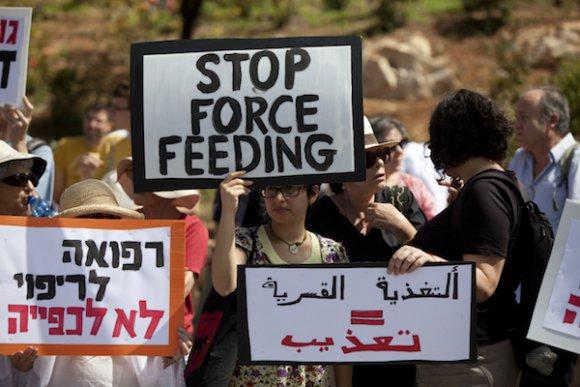 Des médecins israéliens manDes médecins israéliens manifestent contre la