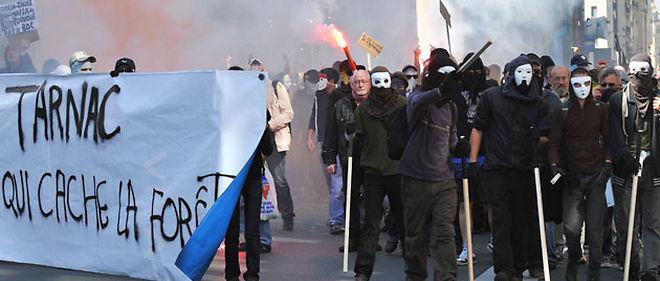 Manifestation de soutien aux inculpés de Tarnac (archive)