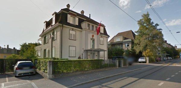 Le consulat de Turquie à Zurich
