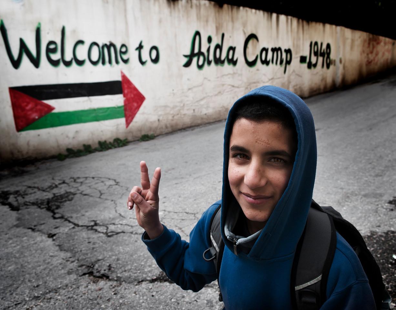 L'entrée du camp de réfugiés d'Aida