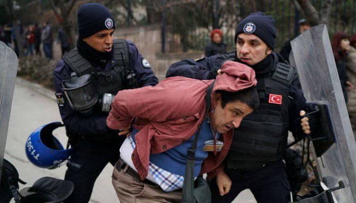 Arrestation devant l'université d'Ankara