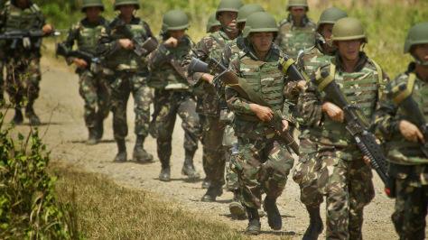 Militaires philippins en opération