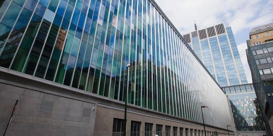 Le siège de la police judiciaire fédérale à Bruxelles