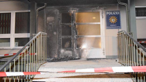 L'entrée du siège de la police judiciaire