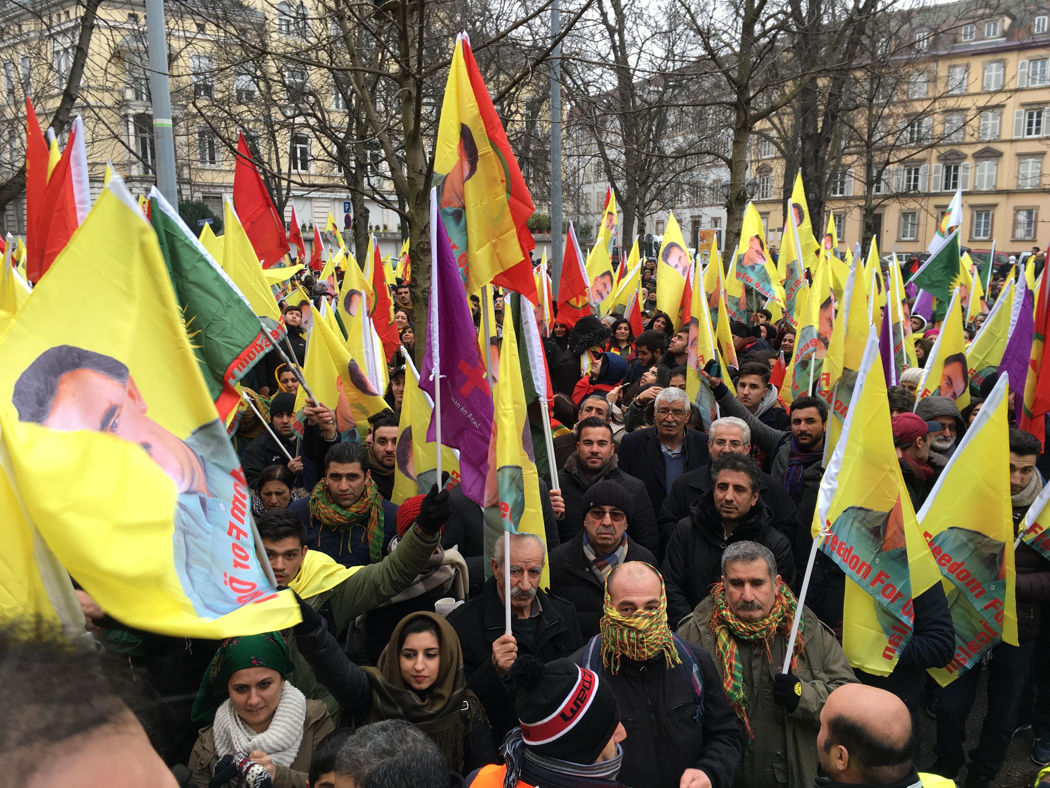 Manifestants à Strasbourg