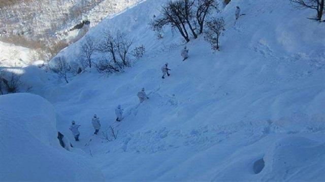 Les commandos turcs dans les montagnes de Tunceli