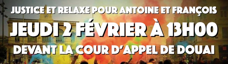 Solidarité avec Antoine et François