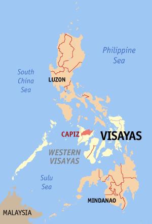 La province de Capiz, dans la région du Visayas occidental