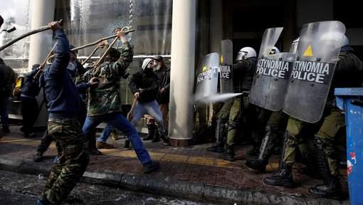Les incidents hier à Athènes