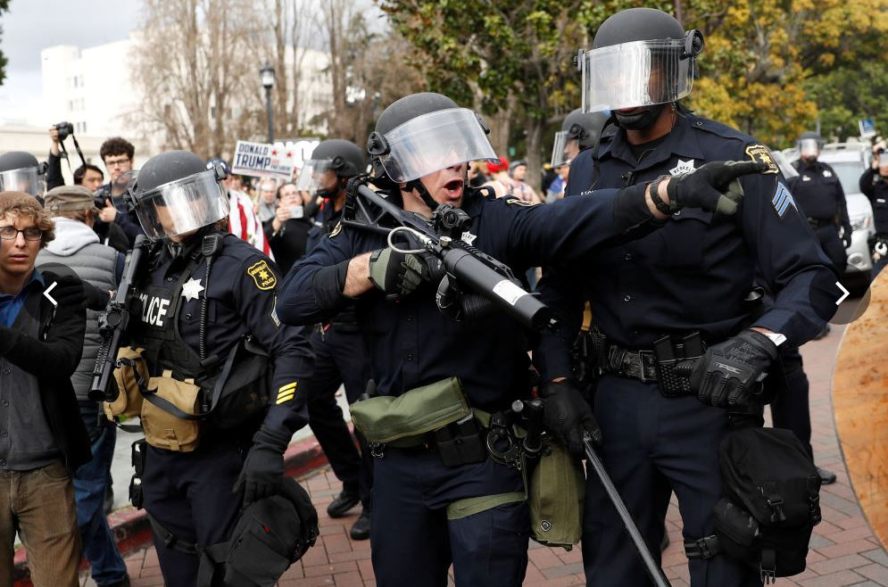 L'intervention de la police à Berkeley