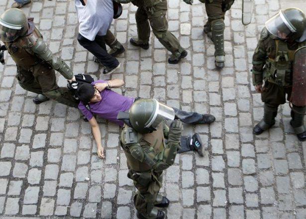 Les affrontements mercredi à Santiago