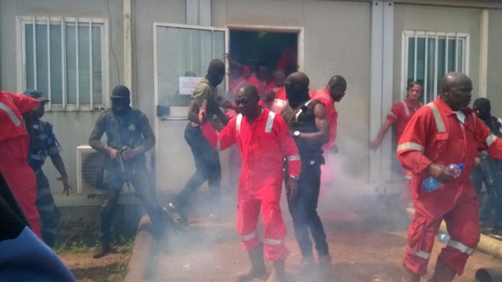 L'intervention policière sur le site d'Onal