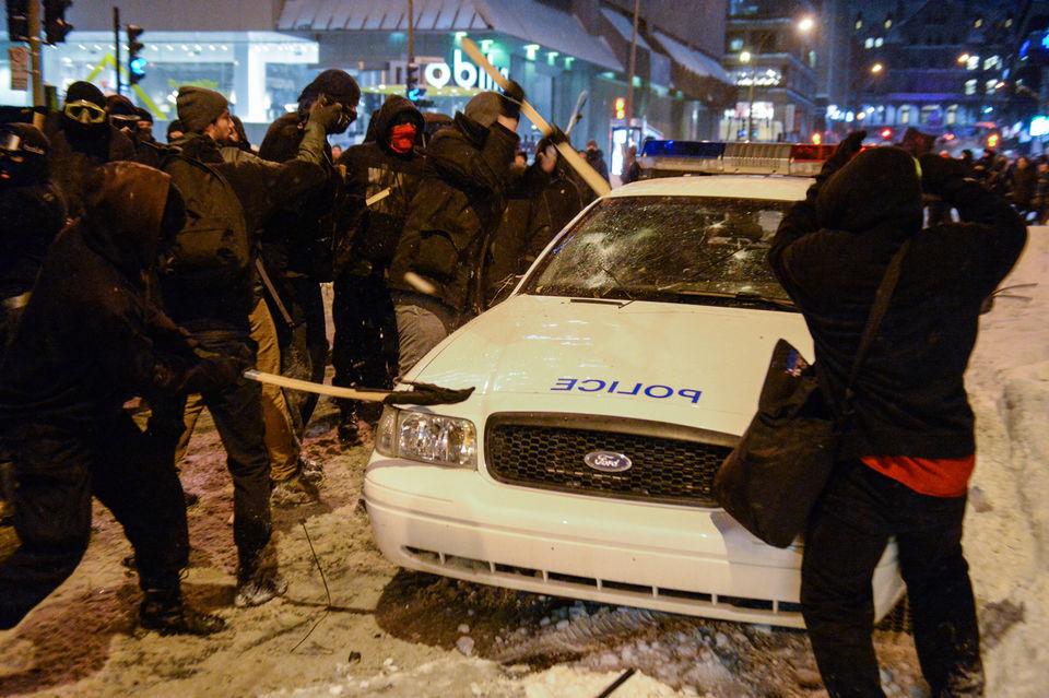 L'attaque de la patrouilleuse, hier à Montréal