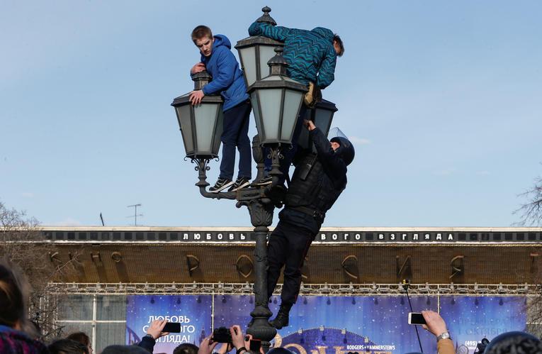 Tentative d'arrestation dimanche à Moscou