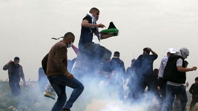Les affrontements dans dans le village de Madama, au sud de Naplouse