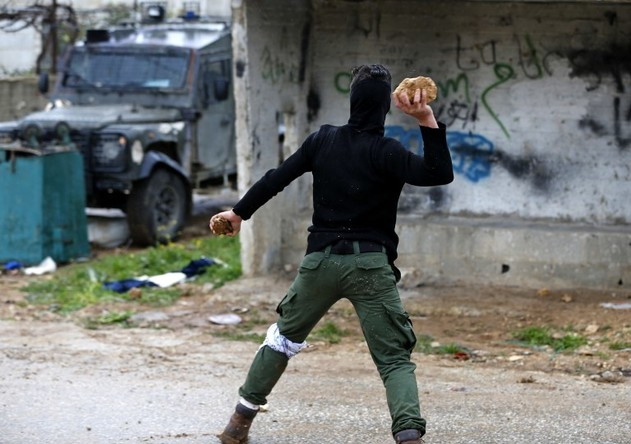 Affrontements prsè de Ramallah, hier