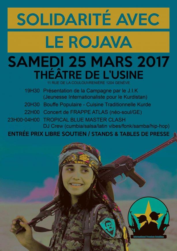Genève : Soirée de solidarité avec le Bataillon International de Libération au Rojava