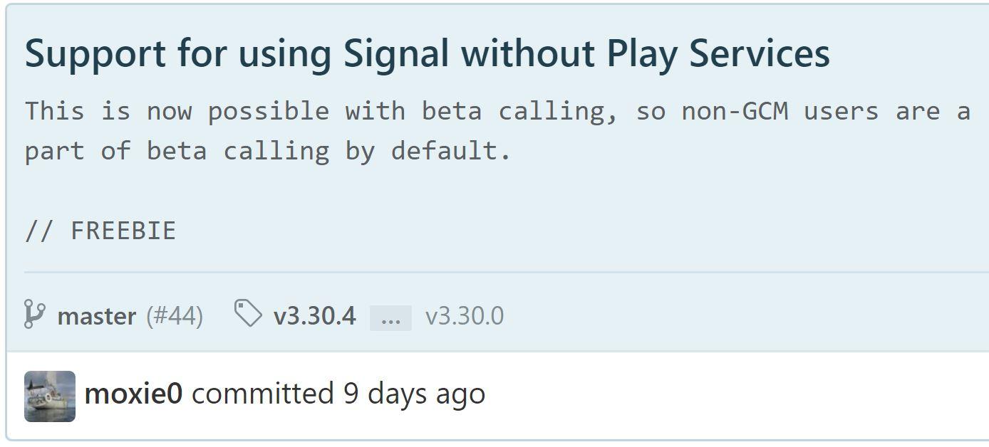 Possibilité d'utiliser Signal sans les Google Play Services