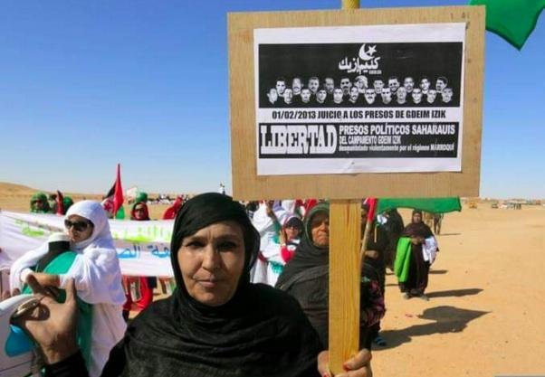 Manifestation de soutien aux prisonniers de Gdeim Izik (archive)
