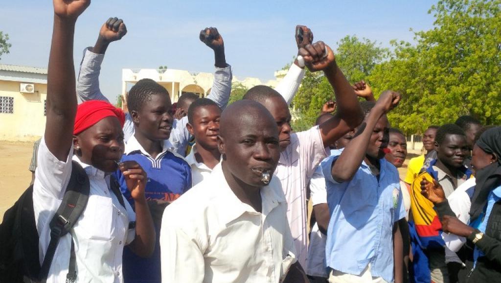 Maifestants étudiants au Tchad