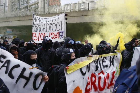 La manifestation d'Aubervilliers