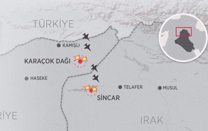 Les deux monts bombardés: Karachok et Shengal