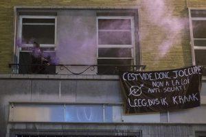 L'occupation du Centre Social Anarchiste, rue Godecharle