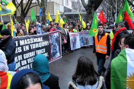 Manifestation de la communauté kurde de Liège (archive)