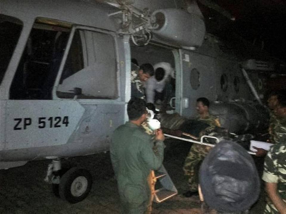 Evacuation des soldats à Sukma