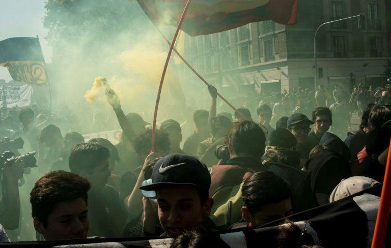 La manifestation d'hier à Santiago