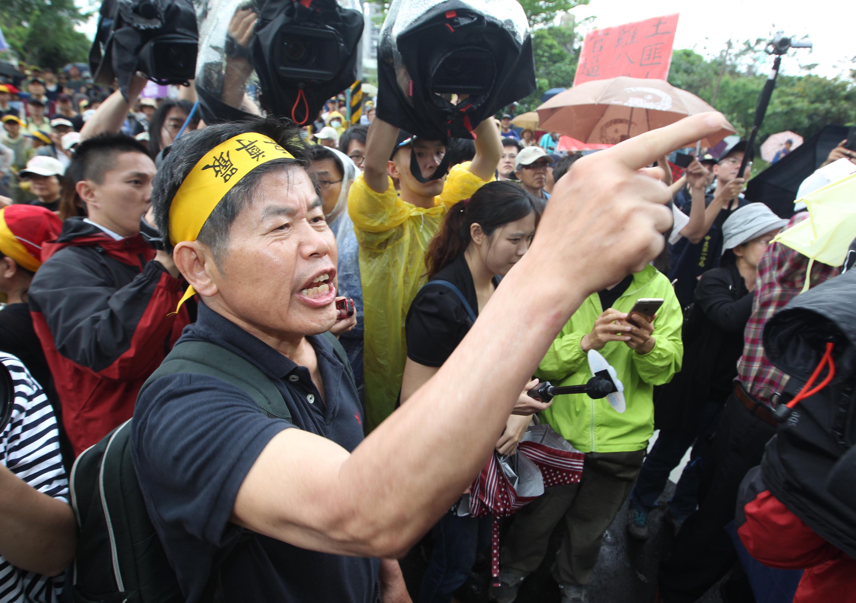 Manifestants hier à Taïpe