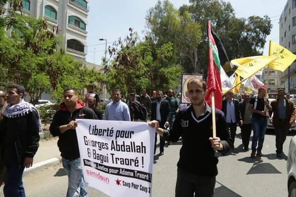 manifestation à Gaza