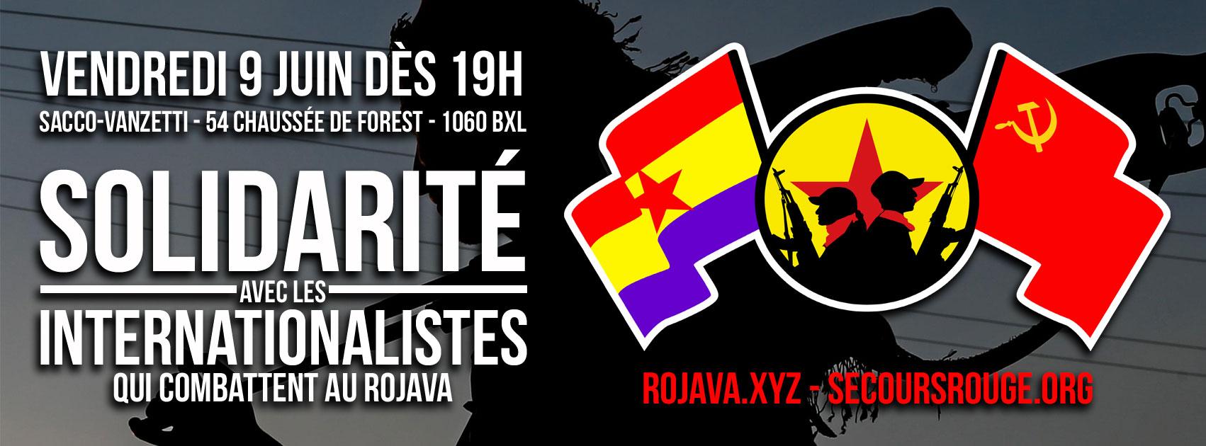 Soirée de solidarité avec les internationalistes qui combattent au Rojava