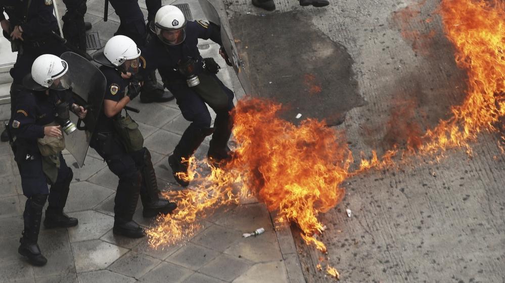 Les affrontements hier mercredi à Athènes