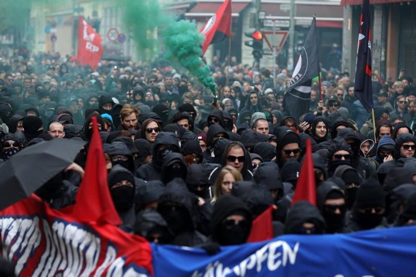 La manifestation à Berlin