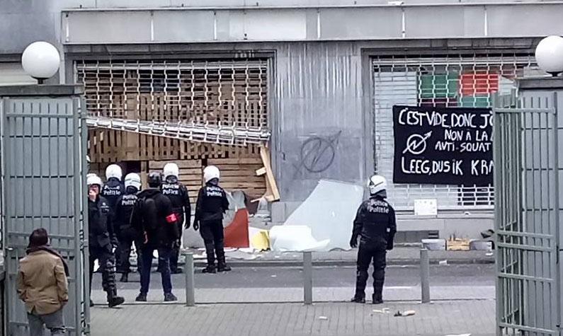 Expulsion du 1er CSA, rue Godecharle