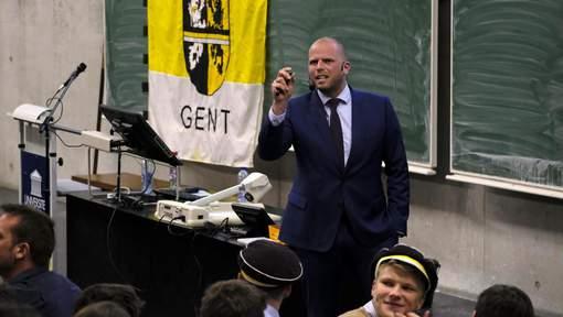 Francken à l'université de Gand